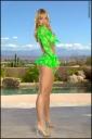 Amber Evans Tiny Skirt