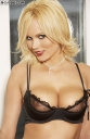 Hanna Hilton in Black Lingerie and Stockings