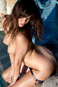 Holly Michaels Naked on the Rocks