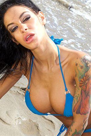 Angelina Valentine in Blue Bikini
