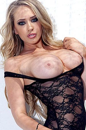 Kagney Linn Karter Busty Blonde in Black Lace