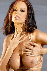 Nikki Nova Busty Brunette in Bikini