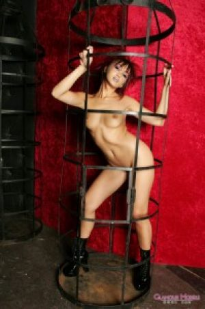 Katsuni Gets Naked in a Cage