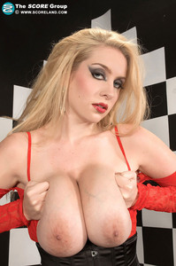 Kali West BBW Blonde Shows Huge Boobs